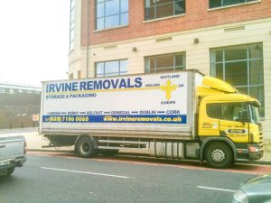 Our lorry moving office equipment for a local business